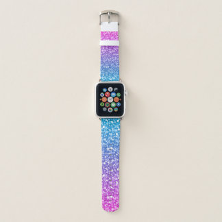 Bracelet Apple Watch Parties scintillantes colorées élégantes