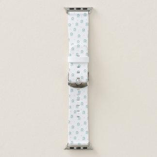Bracelet Apple Watch Pattes vertes mignonnes d'animal familier avec des