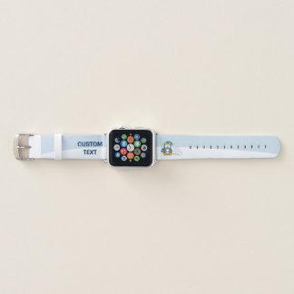 Bracelet Apple Watch Petit pingouin se reposant avec des boules de