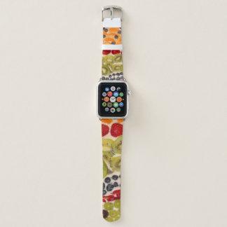 Bracelet Apple Watch Photo de plan rapproché de pizza de fruit