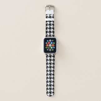 Bracelet Apple Watch Pied-de-poule noir et blanc