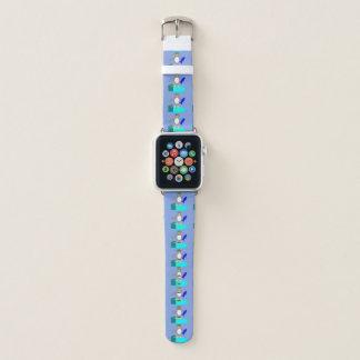 Bracelet Apple Watch Pingouin de pêche de Joyeux Noël