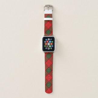 Bracelet Apple Watch Plaid de tartan écossais de Maxwell de clan de