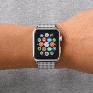 Bracelet Apple Watch Plaid gris