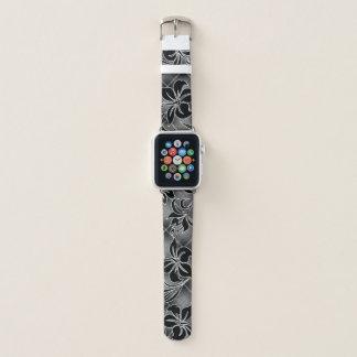Bracelet Apple Watch Plaid hawaïen de gris de ketmie de Mauna LOA