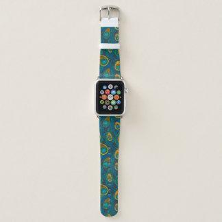 Bracelet Apple Watch Plume de scintillement de paon