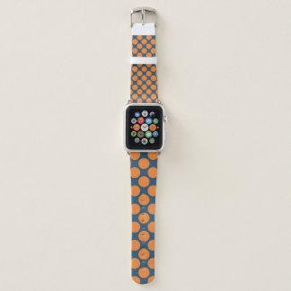 Bracelet Apple Watch Point bleu et orange
