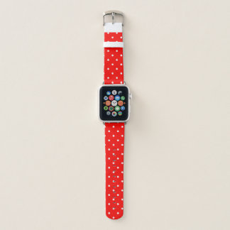 Bracelet Apple Watch Polka rouge