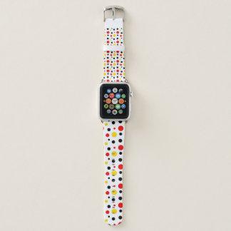 Bracelet Apple Watch Polkadot jaune d'amusement et noir rouge