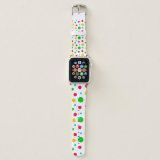 Bracelet Apple Watch Polkadot jaune et rouge vert