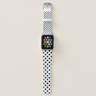 Bracelet Apple Watch Polkadot noir à la mode