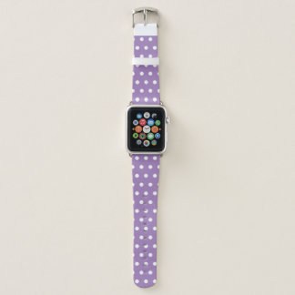 Bracelet Apple Watch Polkadot pourpre