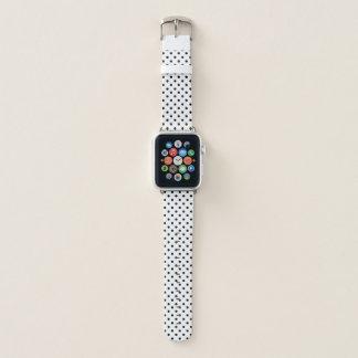 Bracelet Apple Watch Polkas noires et blanches