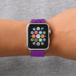 Bracelet Apple Watch Pourpre de reptile