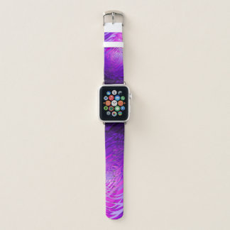 Bracelet Apple Watch Pourpre en spirale complexe - bande de montre