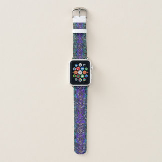 Bracelet Apple Watch Pourpre et mandala celtique de noeud de coeur de