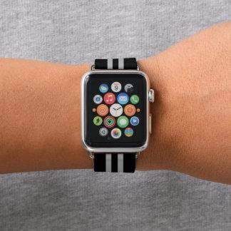 Bracelet Apple Watch Rayure de emballage noire