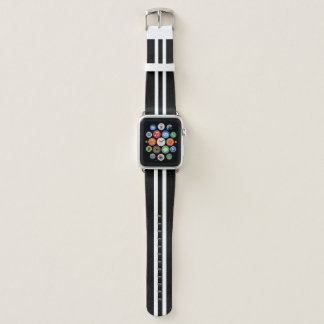Bracelet Apple Watch Rayure de emballage noire et blanche