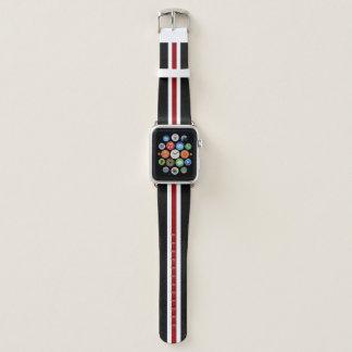 Bracelet Apple Watch Rayure de emballage rouge