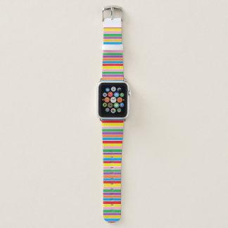 Bracelet Apple Watch Rayures colorées d'arc-en-ciel