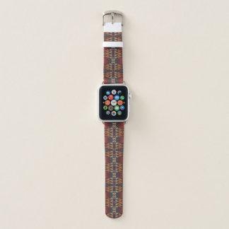 Bracelet Apple Watch Regard ethnique éclectique bleu turquoise rouge