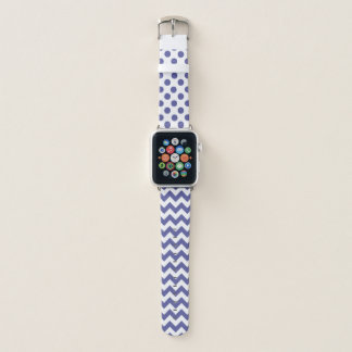 Bracelet Apple Watch Regency bleu et le blanc modèle la bande de montre