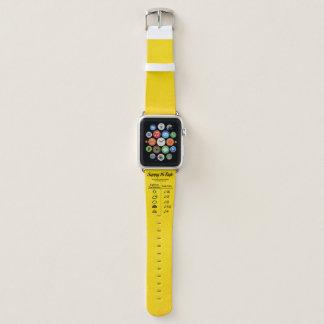 Bracelet Apple Watch Règle 16 ensoleillée