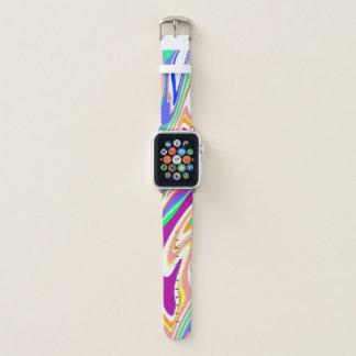 Bracelet Apple Watch Remous abstrait coloré de bruit