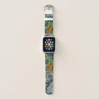 Bracelet Apple Watch Rétro motif frais génial de marbre de fractale
