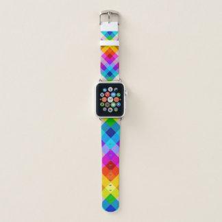 Bracelet Apple Watch Rétro motif vibrant de tuile