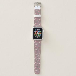 Bracelet Apple Watch Rétros flamants