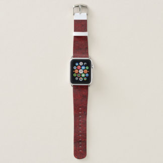 Bracelet Apple Watch Roche rouge solide/bande de montre Apple de motif