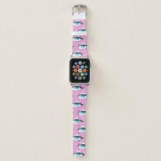 Bracelet Apple Watch Rose de motif d'yeux bleus