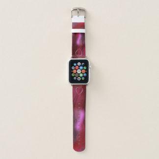 Bracelet Apple Watch Rose et rouge de coeur