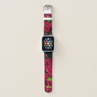 Bracelet Apple Watch Roses rouges