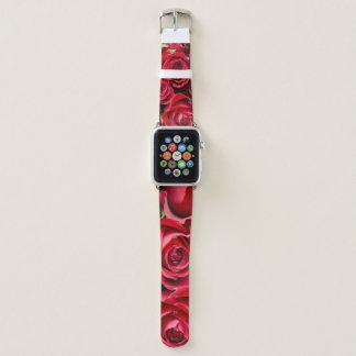Bracelet Apple Watch Roses rouges sur une bande de montre d'Apple