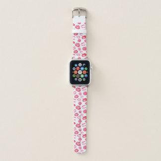 Bracelet Apple Watch Rouge à lèvres rose LipSense