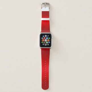 Bracelet Apple Watch Rouge de nombre du Jersey de sports et nommé