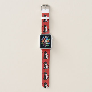 Bracelet Apple Watch Rouge mignon étreignant des chats d'amour