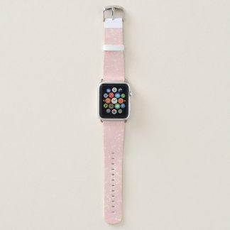 Bracelet Apple Watch Rougissent le miroitement rose - ajoutez le texte,