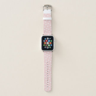 Bracelet Apple Watch Rougissent le rose avec les coeurs blancs