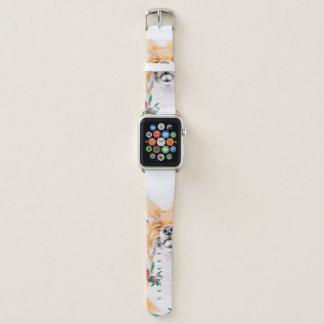 Bracelet Apple Watch Rusé heureux et roses