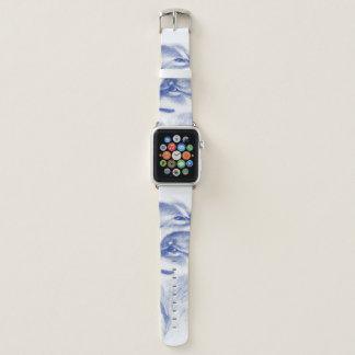 Bracelet Apple Watch Se blottissant d'alpha loups bleus