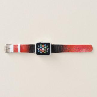 Bracelet Apple Watch Spiral2 rouge complexe - bande de montre d'Apple