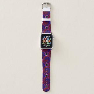 Bracelet Apple Watch Spirale rouge et bleue par Kenneth Yoncich