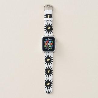 Bracelet Apple Watch Style personnalisable d'art déco de dahlia une
