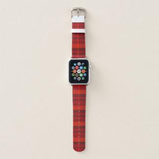 Bracelet Apple Watch Tartan rouge de plaid