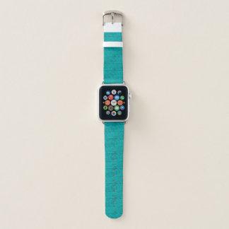 Bracelet Apple Watch Teal a gravé à l'eau-forte la silhouette de course