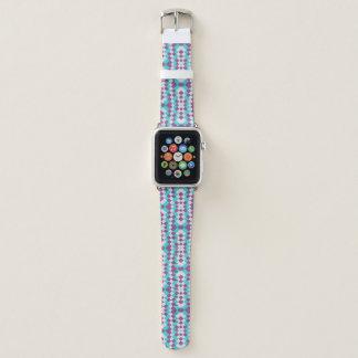 Bracelet Apple Watch Toile blanche violette de jute d'Aqua