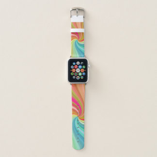 Bracelet Apple Watch Torsion d'arc-en-ciel de remous de couleur